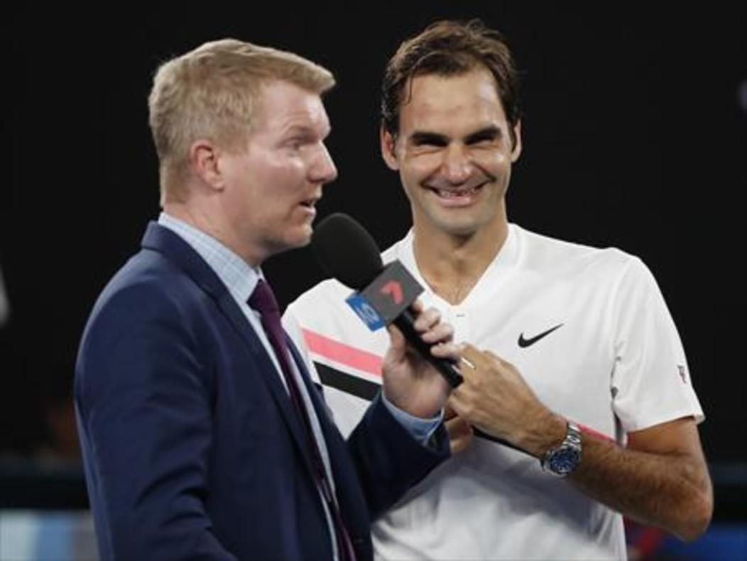 Federer contó ayer su anécdota con Cilic a Courier, tras pasar a la final.