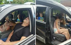 Fotos de una pareja con sobredosis ante un niño de 4 años, difundidas por la policía de Ohio.