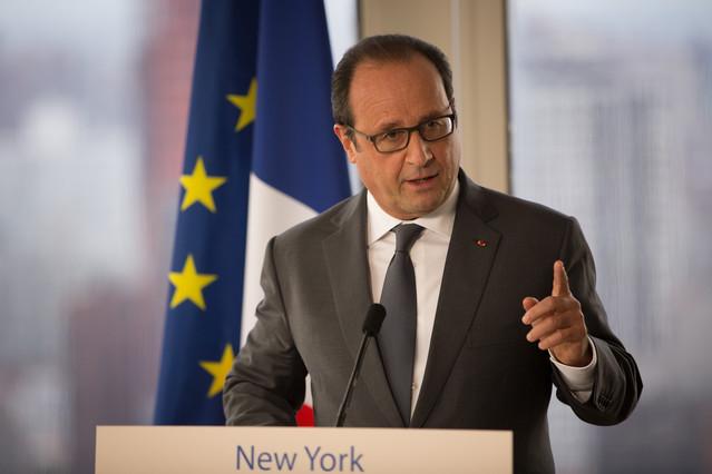 François Hollande, durante una rueda de prensa sobre Siria, el lunes en Nueva York.