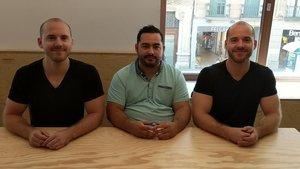 Los fundadores de GaZoom, Sergio Muñoz y los hermanos Lucas y Mark Leisner.