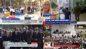 La televisión se vuelca con los homenajes a las víctimas del 17A
