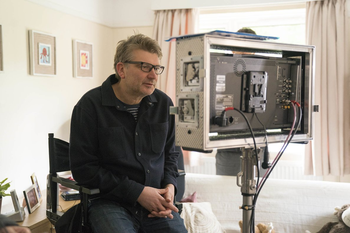 Peter Cattaneo, durante el rodaje de '¡Que suene la música!'