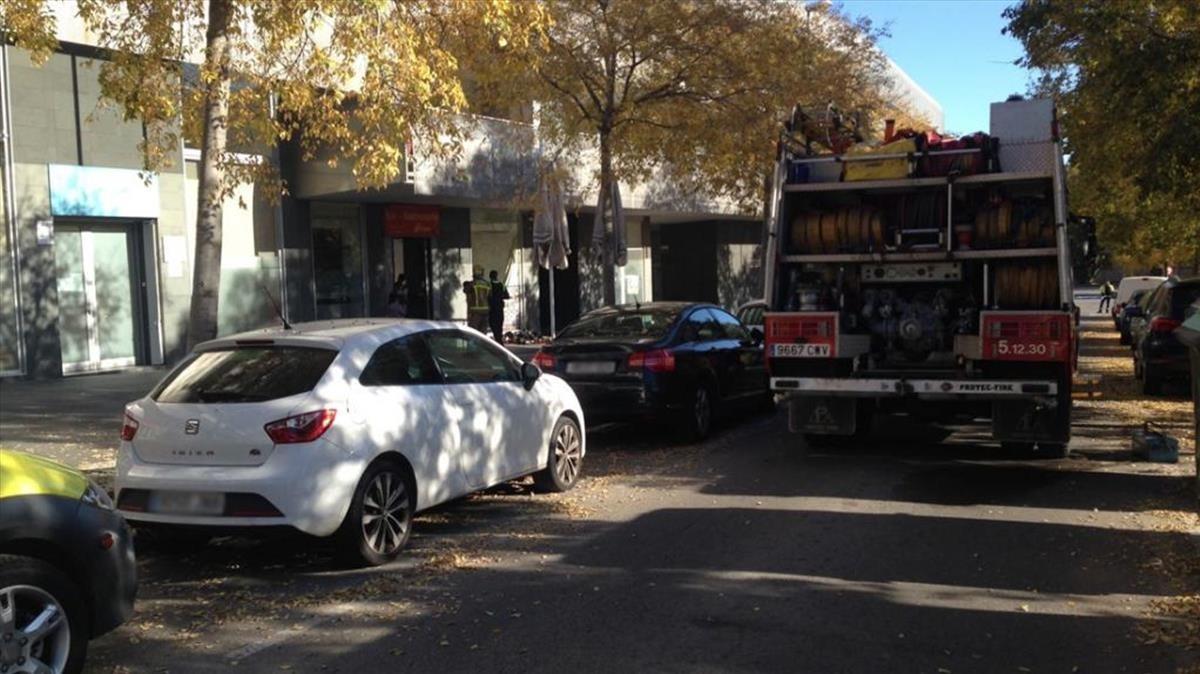 Imagen que muestra la calle Santiago Rossinyol i Prats,número 6,donde se ha producido la explosión.