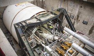 Imagen de la tuneladora de El Prat.