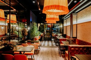 Imagen del interior del nuevo local de la cadena Viena, en la calle Còrsega de Barcelona.