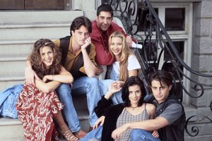 Jennifer Aniston, Matthew Perry, David Schwimmer, Lisa Kudrow, Courtney Cox y Matt LeBlanc.