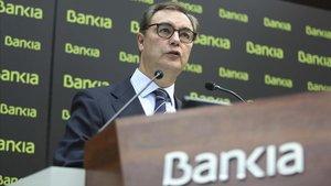 El consejero delegado de Bankia, José Sevilla, en la presentación de resultados del tercer trimestre del 2018.