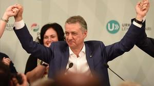 Iñigo Urkullu, tras ganar las elecciones del 25-S.
