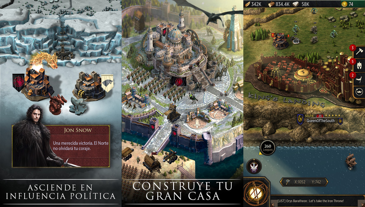 El juego Game of Thrones: Conquest.