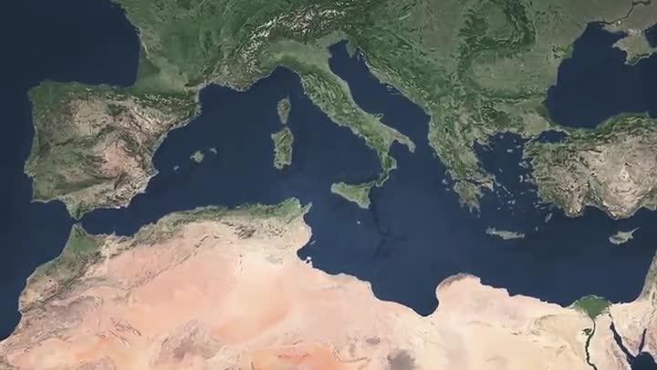 Los geólogos hallan indicios de una catarata en medio del Mediterráneo