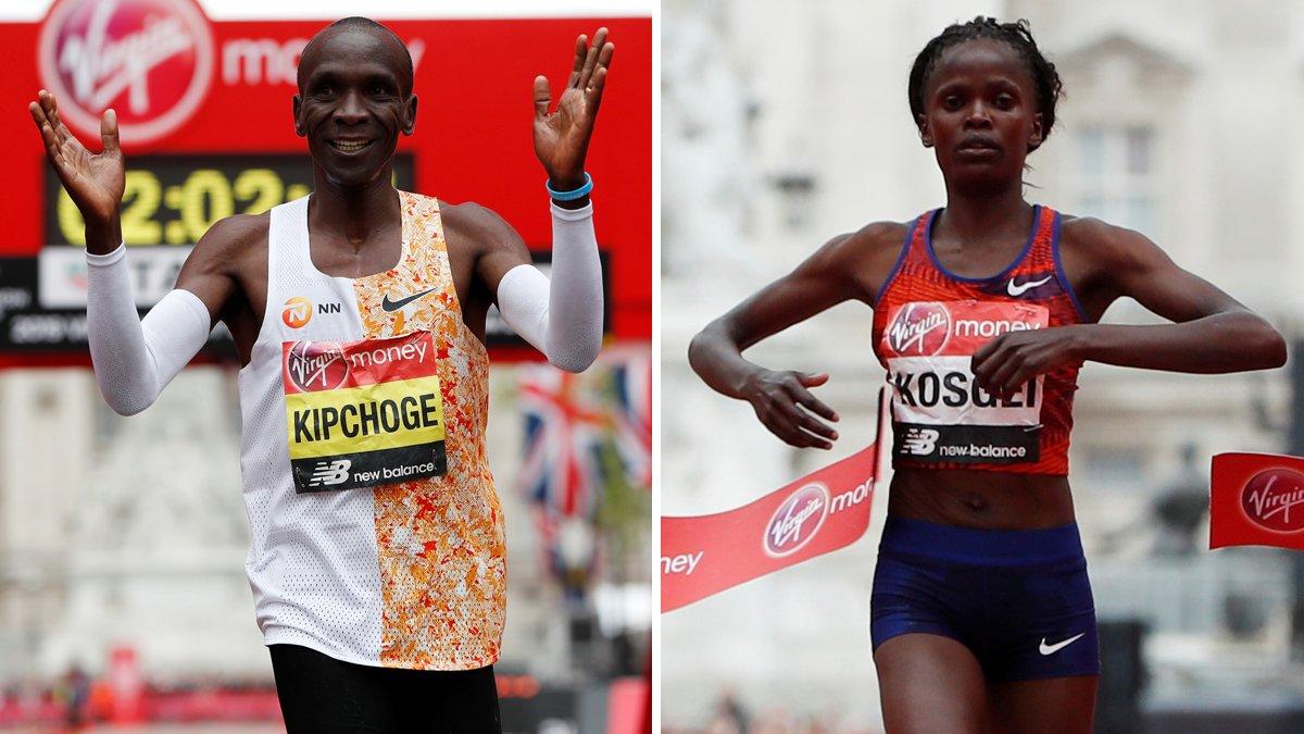 Kipchogue i Kosgei arrasen en la marató de Londres