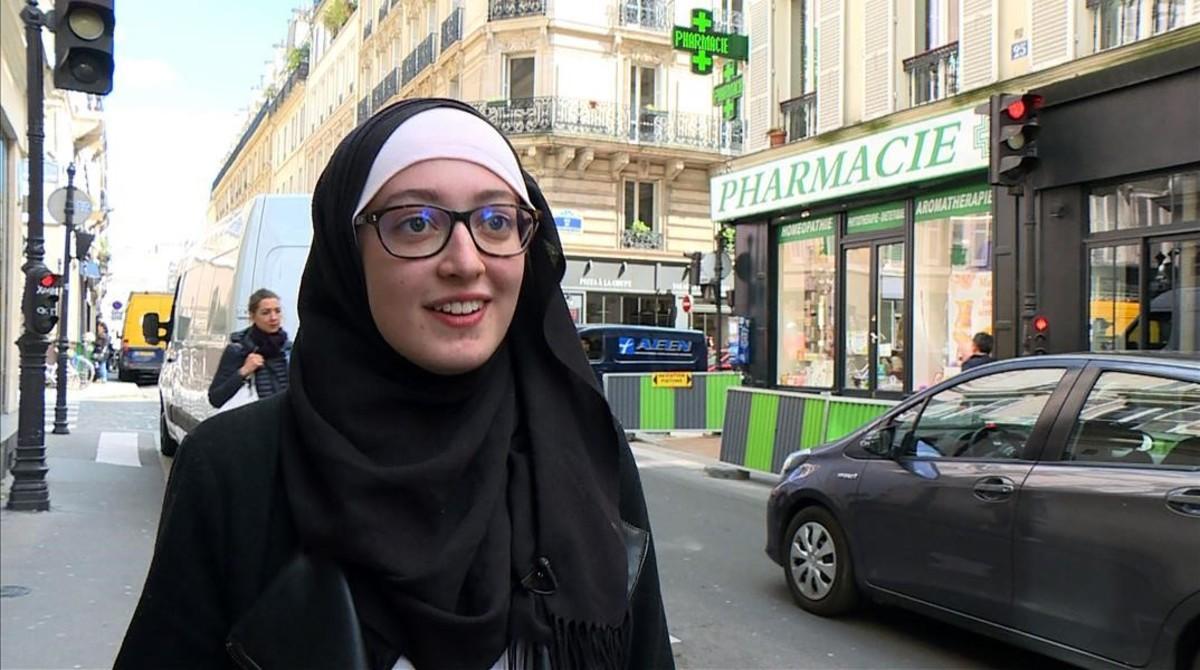 Maryam Pougetoux, presidenta del sindicato UNEF.