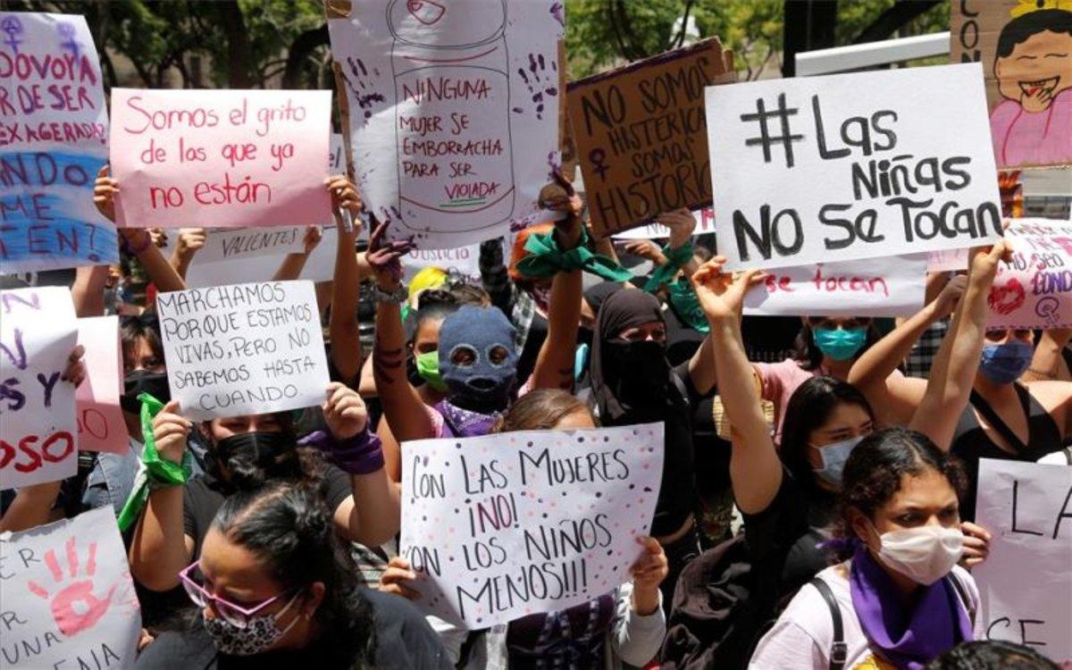 Protestas por abusos sexuales a menores en México.
