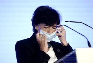 La ministra Celaá, en un encuentro económico celebrado en Madrid, el pasado jueves.