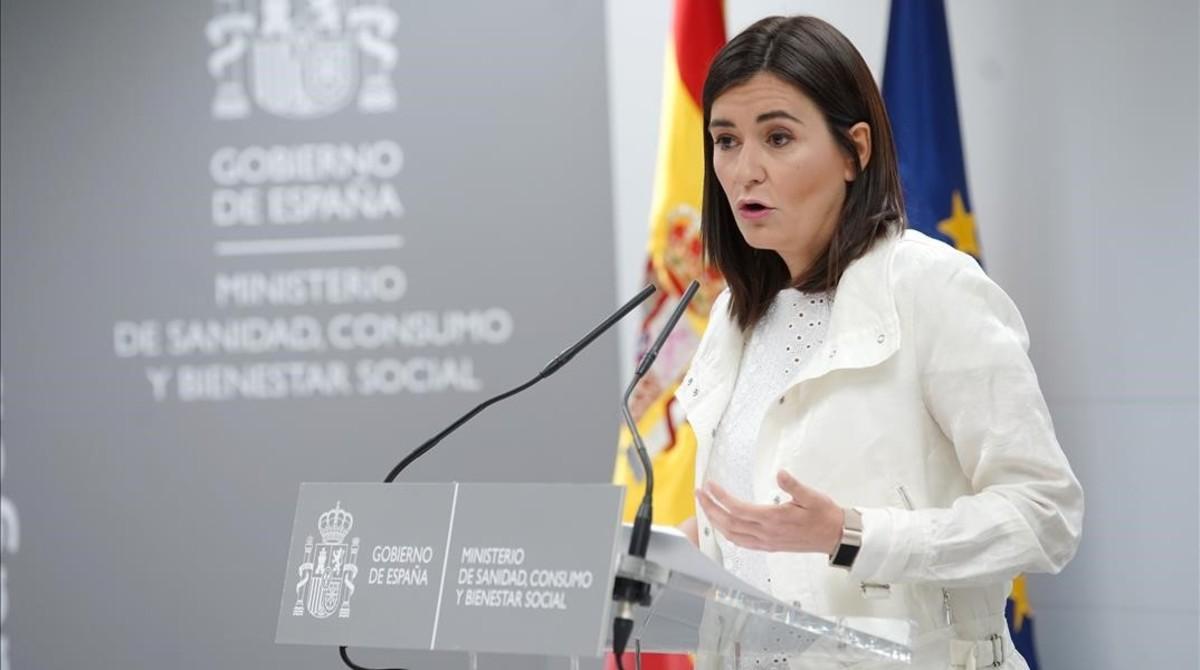 La comparecencia de la exministra de Sanidad, Carmen Montón, cuando dio explicaciones sobre las supuestas irregularidades en su máster.