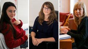 Montse, Alicia y Julia, tres trabajadoras autónomas cuyos negocios se han visto perjudicados por la crisis del coronavirus.