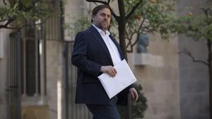 El vicepresidente del Govern y líder de ERC, Oriol Junqueras.