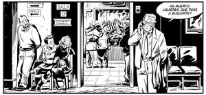Viñeta de Como viaja el agua, nuevo cómic de Juan Díaz Canales.