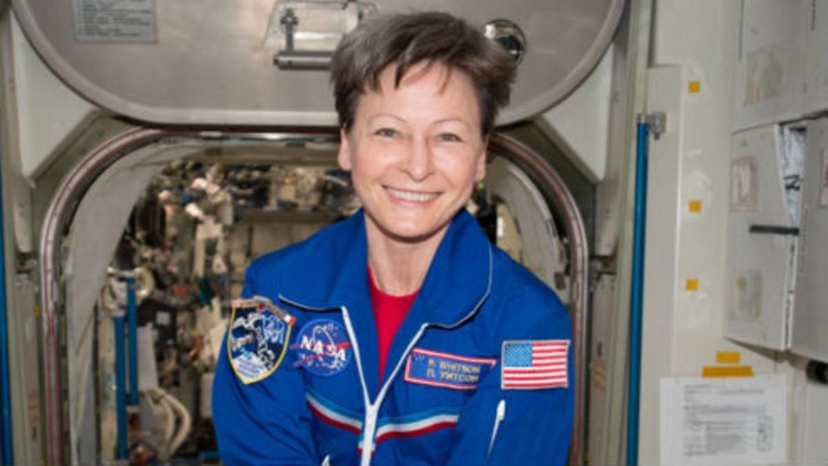 Peggy Whitson, en una estación espacial