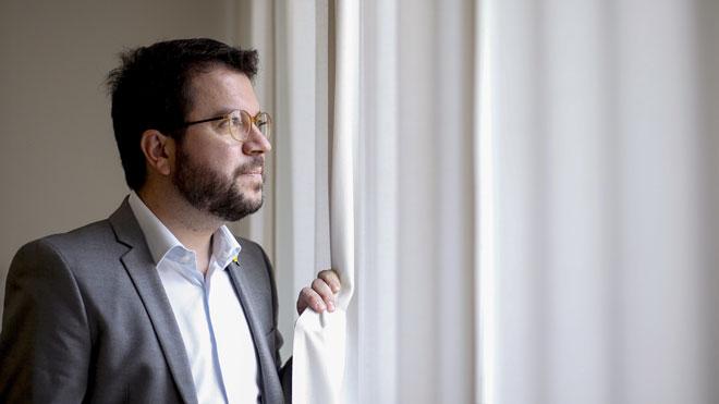 Pere Aragonès no descarta un Govern de concentración o elecciones después de la sentencia del Supremo.