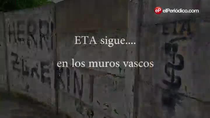 Pintadas pro ETA aparecidas en el País Vasco y Navarra desde el adiós de la banda en Cambo-les-Bains.