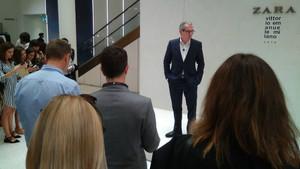 El presidente de Inditex, Pablo Isla, durante la presentación de la remodelación de la tienda flagship de Zara en Milán.