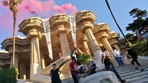 Un momento de la protesta, en una imagen difundida por Arran.