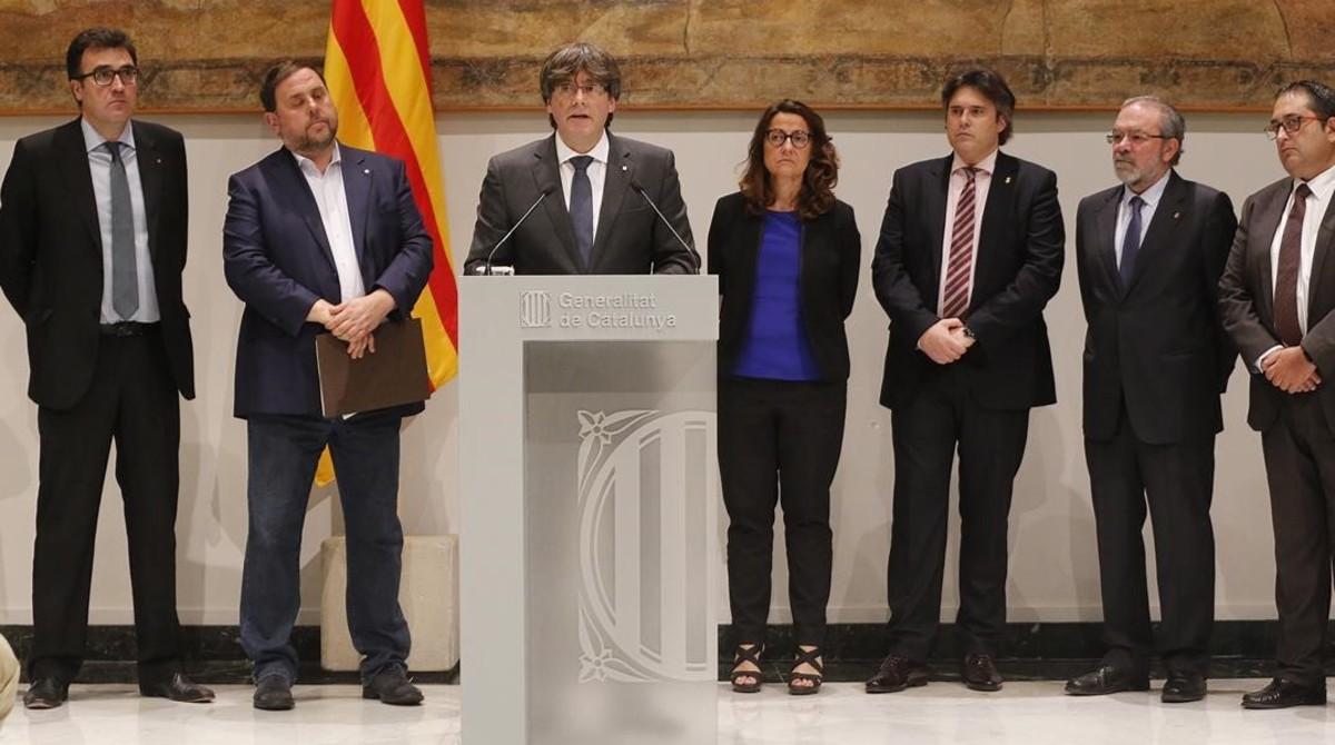 """Puigdemont: """"Estamos preparados para asumir impuestos que aún recauda el Estado"""""""