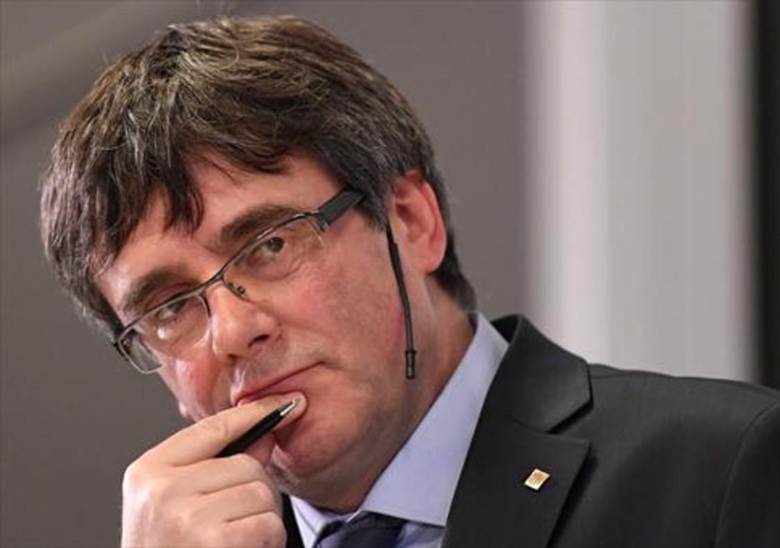 Puigdemont, duranteel debate en la Universidad de Copenhague el 22 de enero.