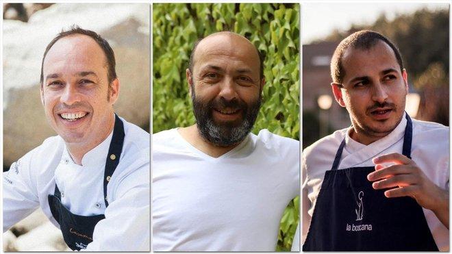 Quim Casellas (Casamar), Oriol Rovira (Els Casals) y Joel Castanyé (La Boscana).