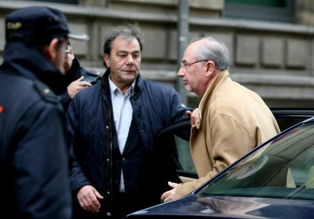 Rato, a larribar a lAudiència Nacional, on ha declarat pel cas Bankia.