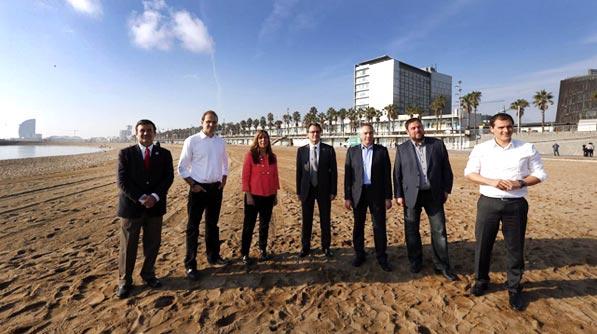 Els candidats a presidir la Generalitat posen per a El Periódico.