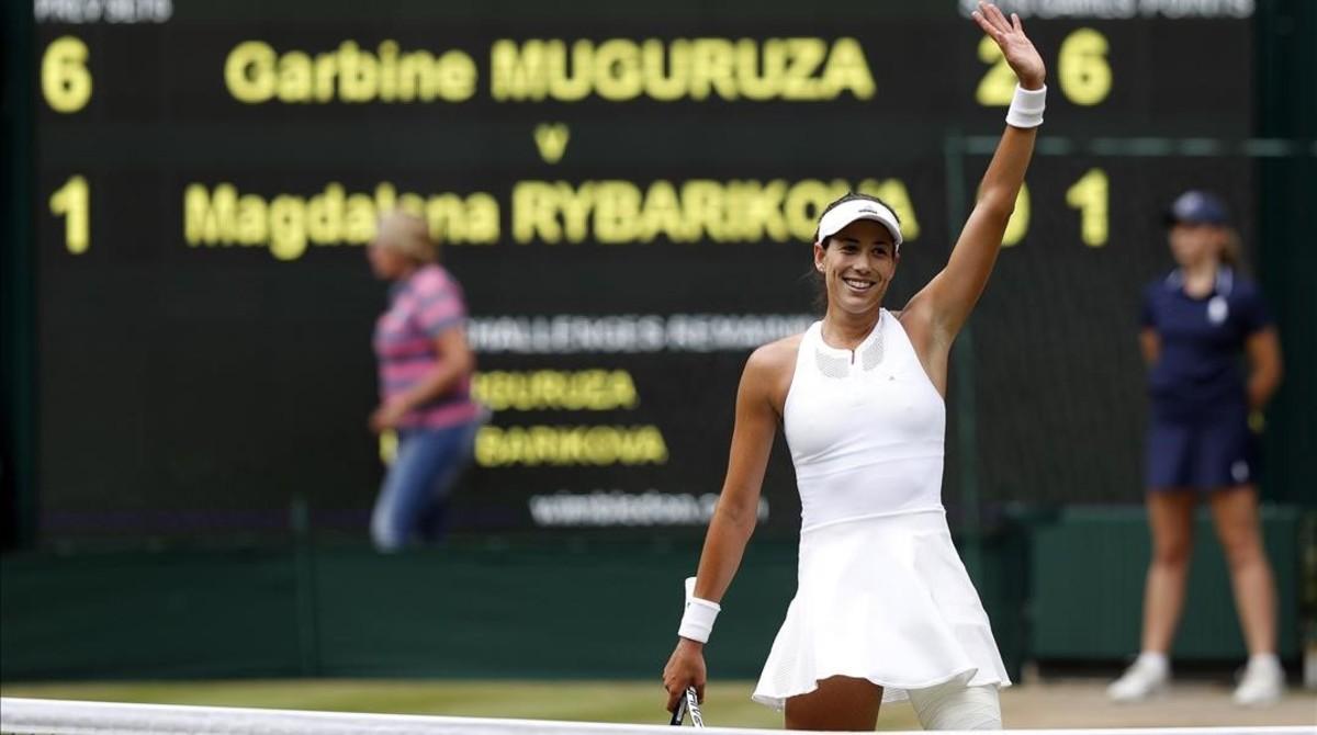 Muguruza espera a Venus Williams en la final de Wimbledon