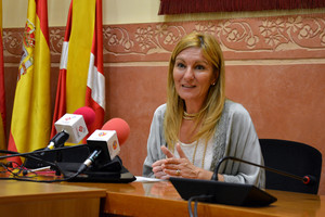 Ana María Martínez, a la presentació de les noves inversions.