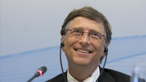 Rueda de prensa de Bill Gates en el Cosmo Caixa.