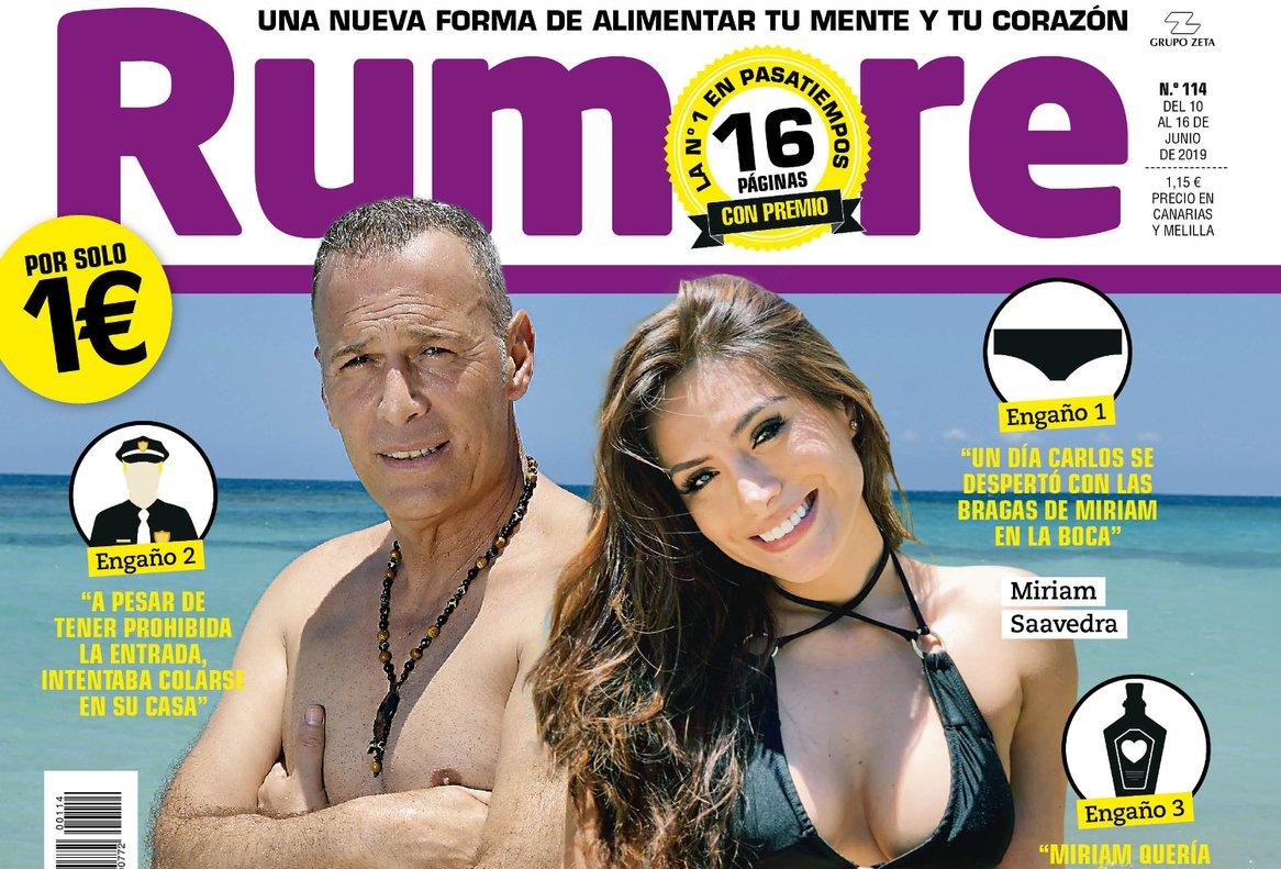 Detalle de la portada de esta semana de la revista 'Rumore'.