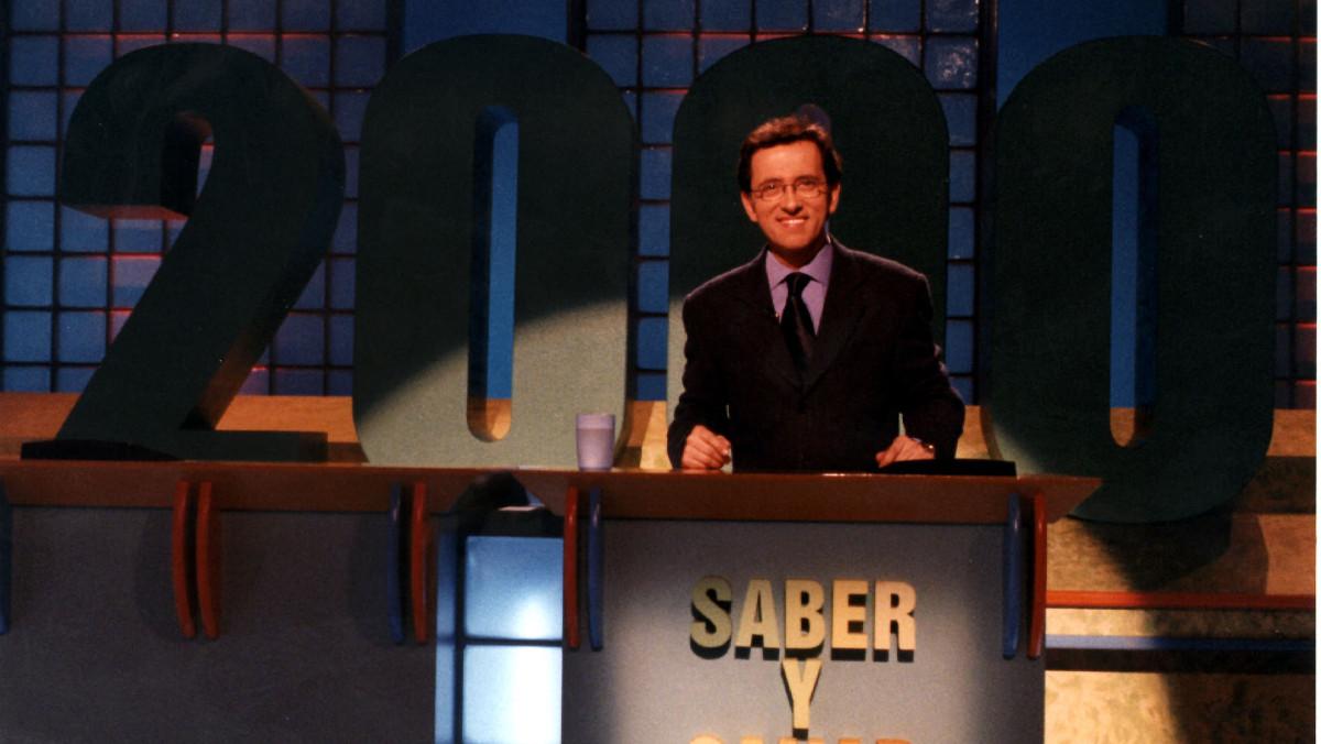 Jordi Hurtado,en el especial de 'Saber y ganar' con motivo de las 2.000 emisiones, en el 2001.