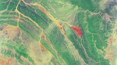 Sahara Occidental (África), imagen hiperespectral