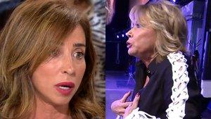 Tremenda bronca en 'Sálvame': Mila Ximénez estalla, abandona el plató y María Patiño se rompe