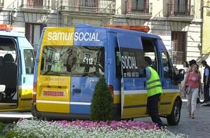 Ambulancia del Samur de Madrid.