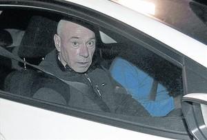 'Santi Potros' sale de la prisión de Alicante, el pasado mes de diciembre, tras ser excarcelado.