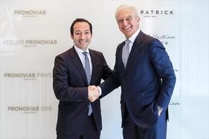 Jean-Baptiste Wautier (izquierda), de BC Partners, y Alberto Palatchi, el lunesen Madrid.