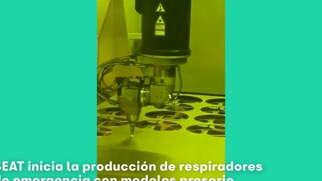 SEAT inicia la producción de respiradores de emergencia con modelos preserie