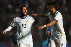 Messi anotó dos goles en el amistoso ante Nicaragua.