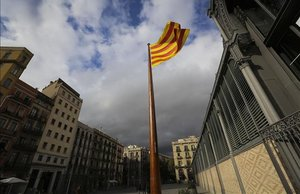 La 'senyera' delBorn de Barcelona