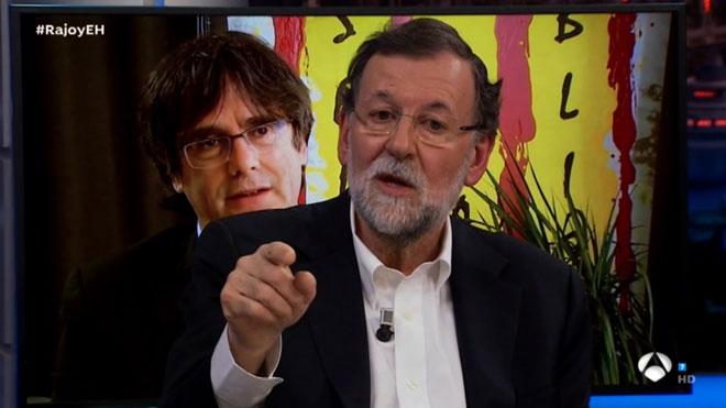 Rajoy fue a divertirse a 'El hormiguero'.