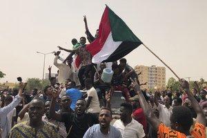 Protestas sociales en Sudán en contra de la Junta Militar.