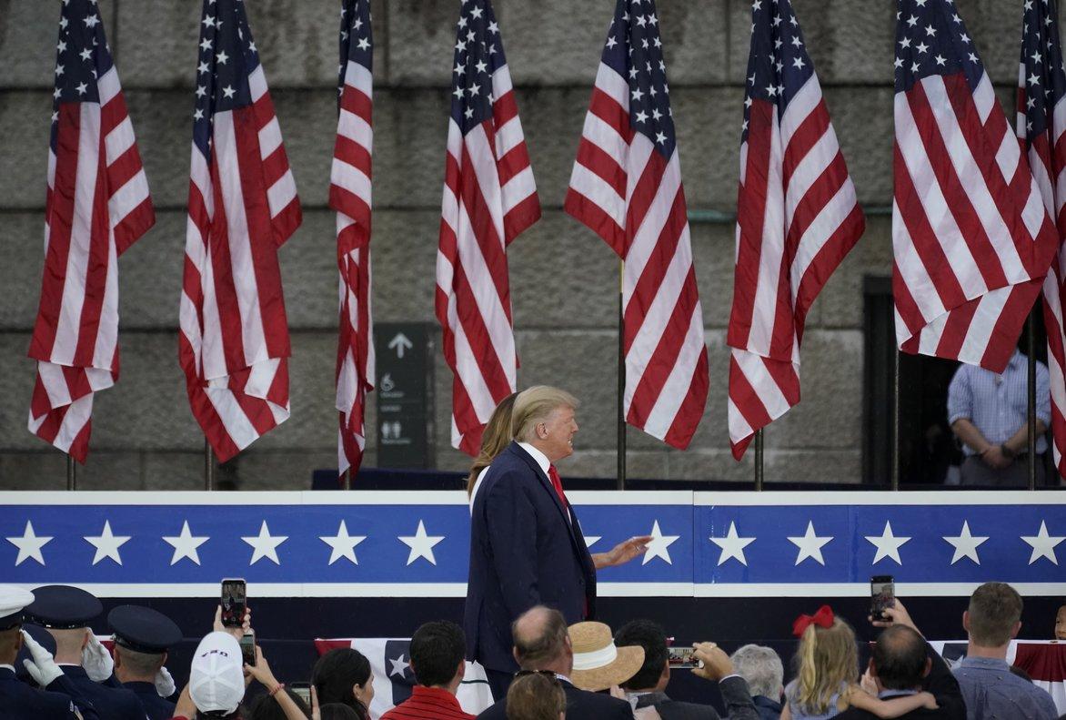 Trump, en la celebración del pasado 4 de julio.