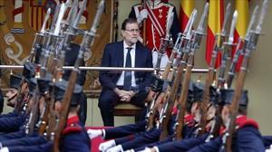 Mariano Rajoy durante el desfile del 12 de octubre del 2016.