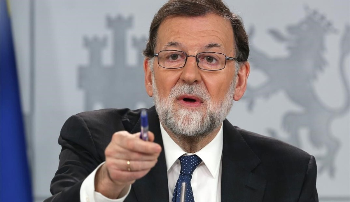 Mariano Rajoy, en la rueda de prensa extraordinaria que ha ofrecido este viernes en la Moncloa.